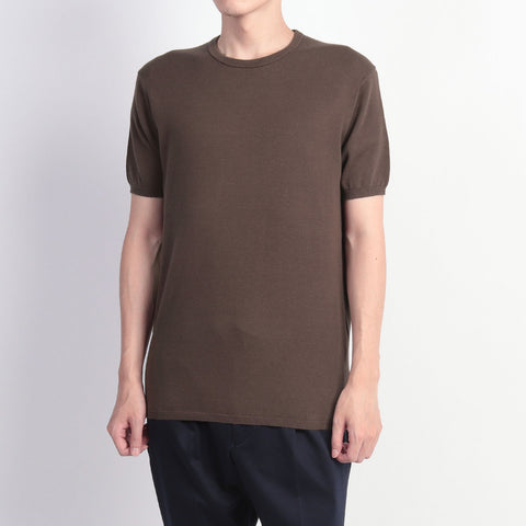 【新色】【SUVIN COTTON】Knit T-shirts