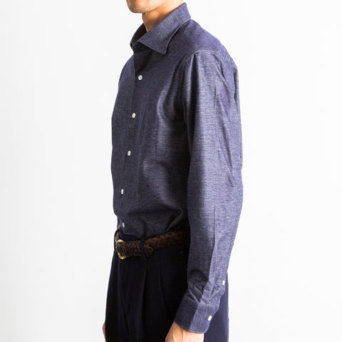 【ALBINI Jersey】Chambray Knit Shirts