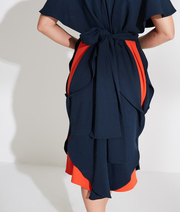 Cape Dress With Belt