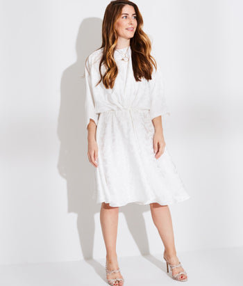 Dolman Sleeve Dress with Drawstring Waist (Amelia)