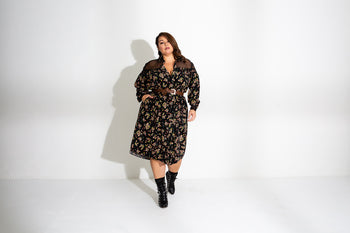 Gathered Button Down Dress (Laura)
