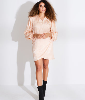 Long Sleeve Wrap Mini Dress  (Beatriz)