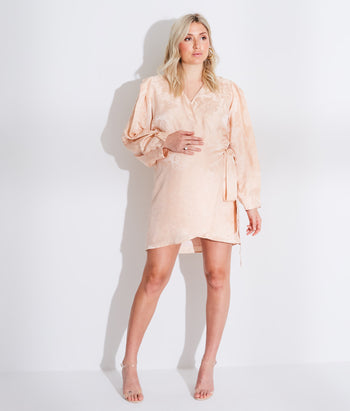 Long Sleeve Wrap Mini Dress (Madison)