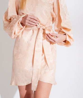 Long Sleeve Wrap Mini Dress  (Sarah)