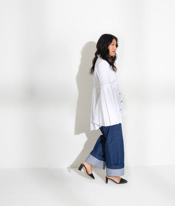 Pleated Button Down (Steph)