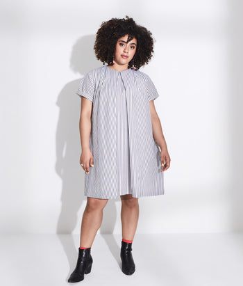Pleat Front Tee Dress (Jessica)
