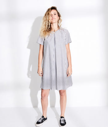 Pleat Front Tee Dress (Robbie)