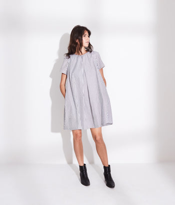 Pleat Front Tee Dress (Sophie)