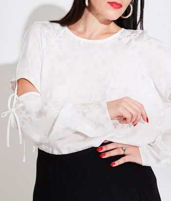 Raglan Sleeve Tee with Removable Sleeve (Maayan)