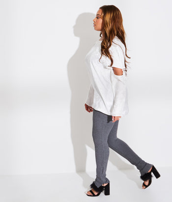 Raglan Sleeve Tee with Removable Sleeve (Angel)