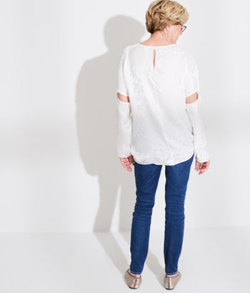 Raglan Sleeve Tee with Removable Sleeve (Gaye)