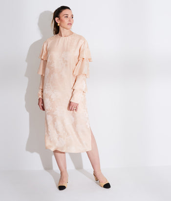 Ruffle Sleeve Midi Dress  (Laney)