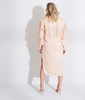 Ruffle Sleeve Midi Dress (Madison)