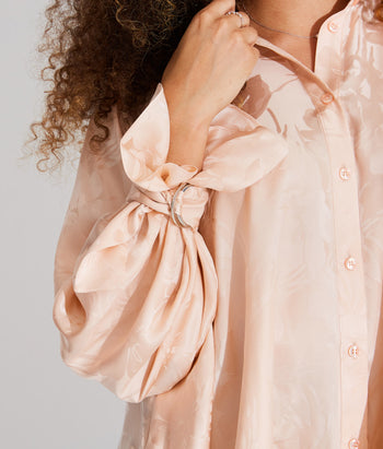 Wrapped Cuff Button Down Shirt (Beatriz)