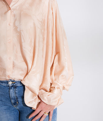 Wrapped Cuff Button Down Shirt (Laney)