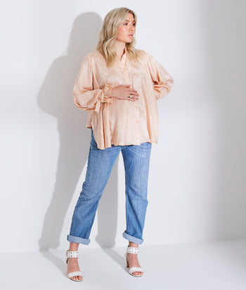 Wrapped Cuff Button Down Shirt (Madison)