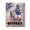 CUSTOM PHOTO NAME BASEBALL FLAG CANVAS - CANVAS - TD1403202