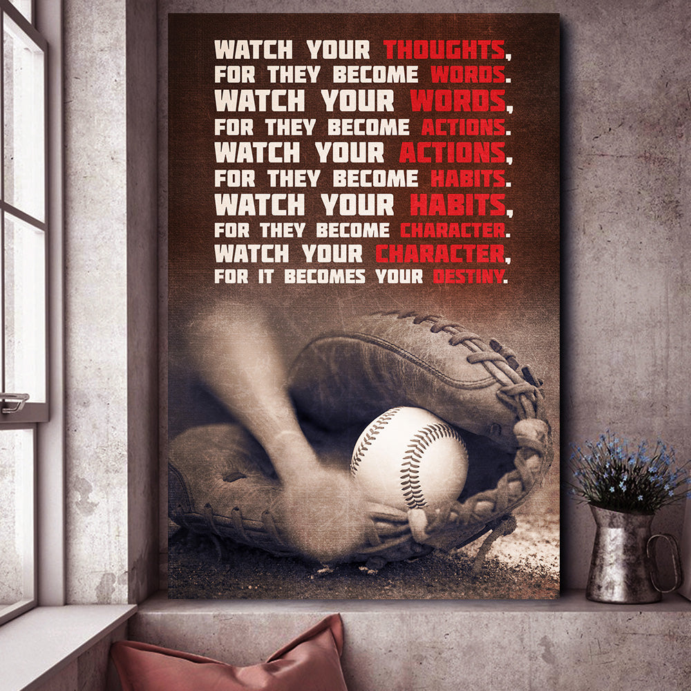 CHARACTER IS YOUR DESTINY BASEBALL CANVAS*