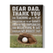 DEAR DAD, THANK YOU FOR TEACHING ME BASEBALL - CANVAS - TD1303202