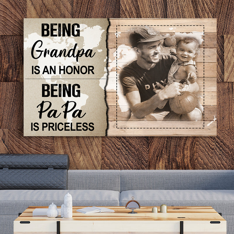 BEING PAPA IS PRICELESS - CANVAS - TU1303203