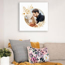 WHITE ROSE PHOTO COUPLE LOVE - CANVAS - TU0203206