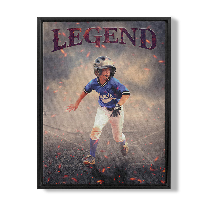 BASEBALL LEGEND - FRAMED CANVAS - MI1003202