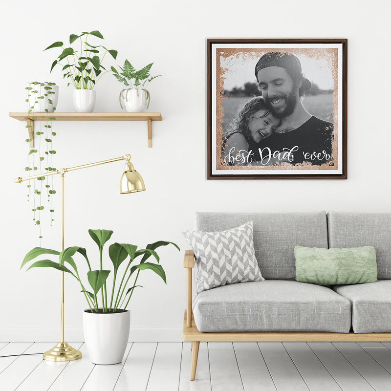 BEST DAD EVER - FRAMED CANVAS - MI2802201