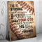 BASEBALL DEUTERONOMY 31 6 - CANVAS - KT1610203HO