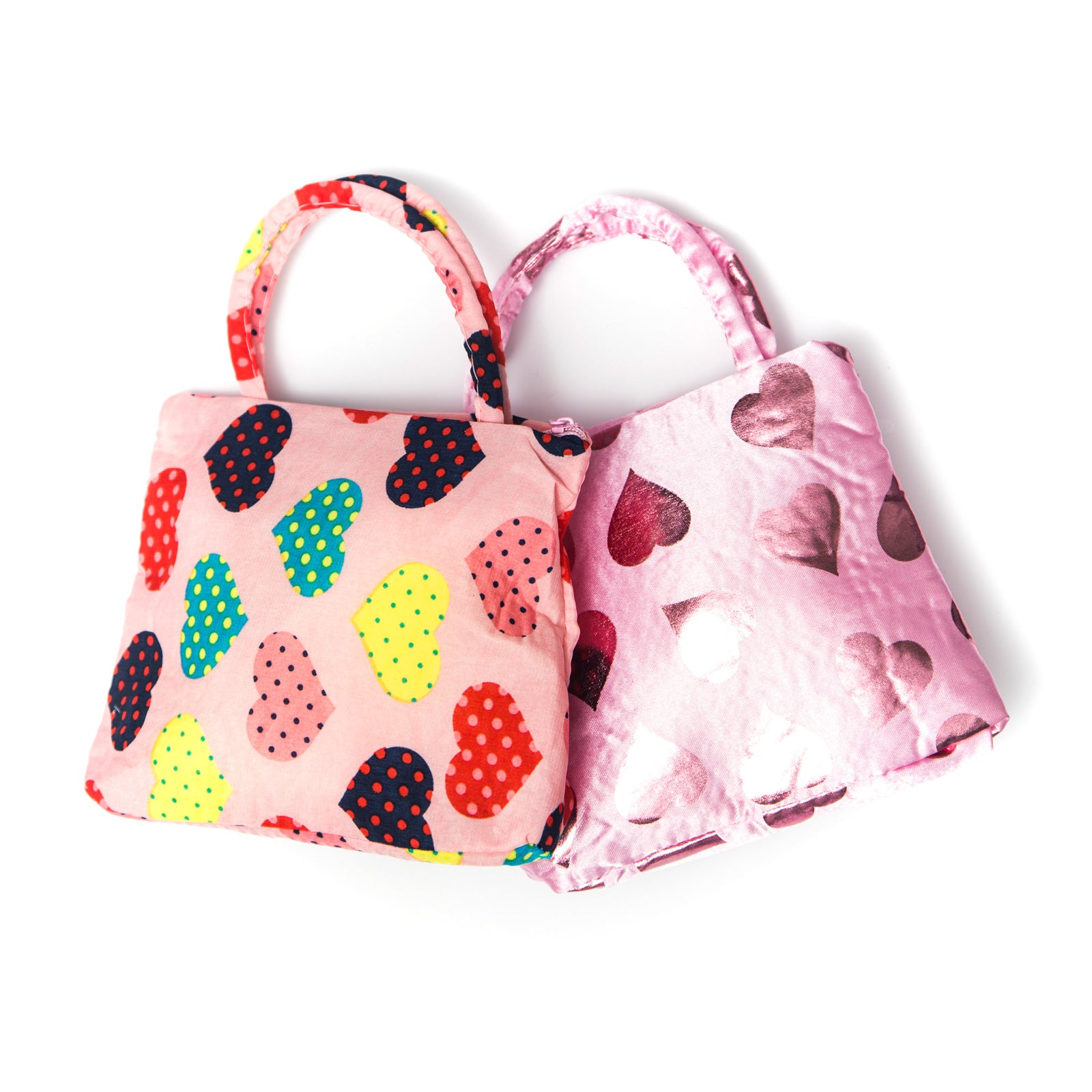 Hearts bag short handle