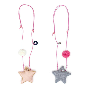 Star necklace on string