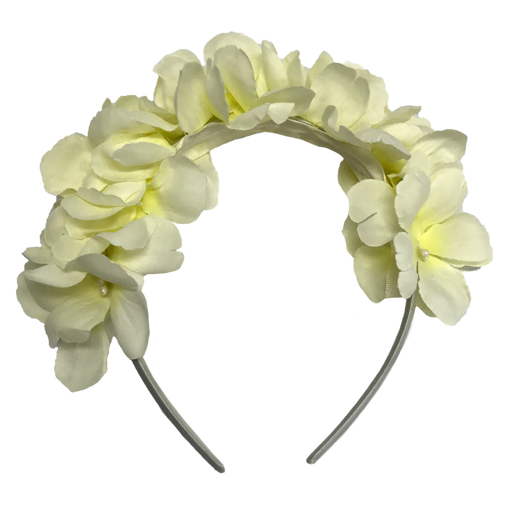 White floral aliceband