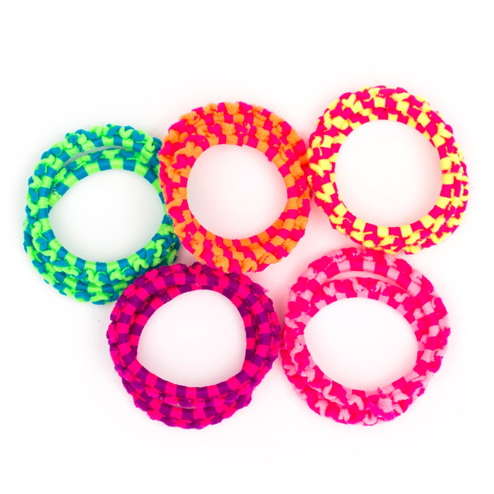 Tiny plaits small hair ties