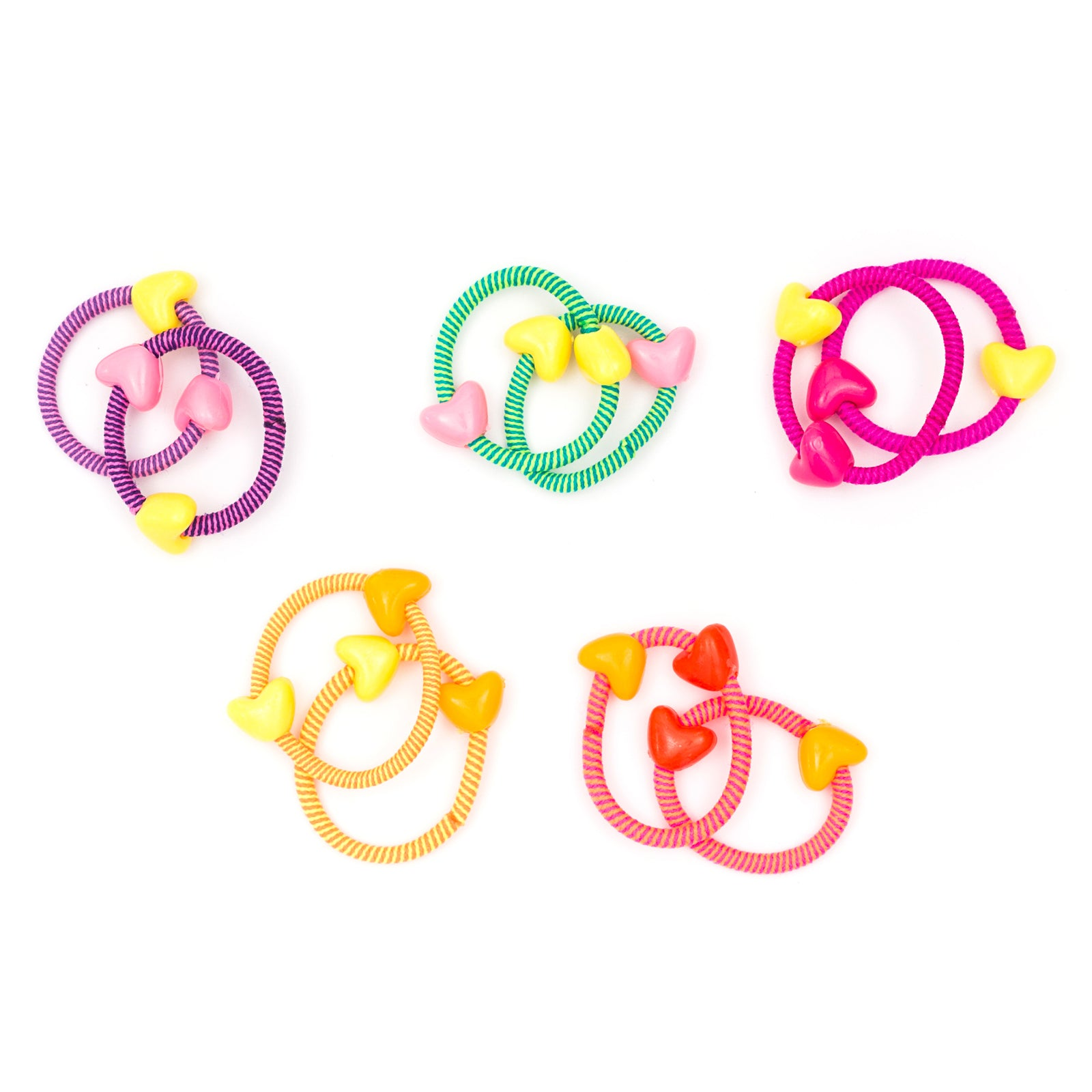 Tiny hearts small hair ties