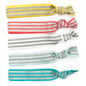 Silky Snag Free hair tie - stripes and zig zags