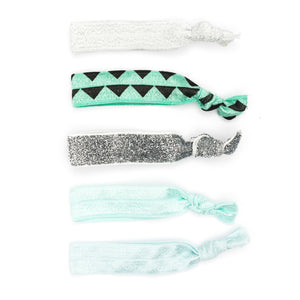 Silky Snag Free hair tie - diamonds and triangles