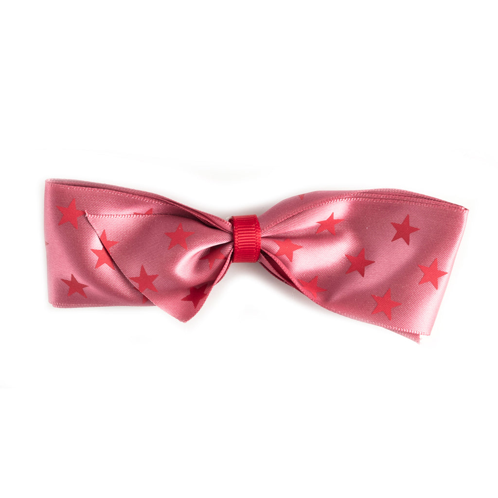 Pretty bow with stars large hair clip
