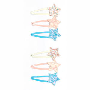Three glitter star hair clip