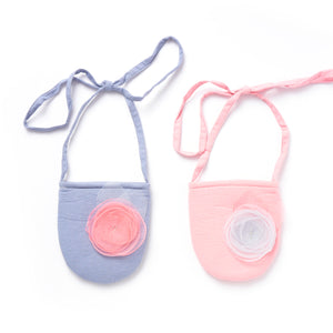 Organza circles with silver cross stitch bag