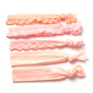 Silky Elastic knotted hair ties Princess