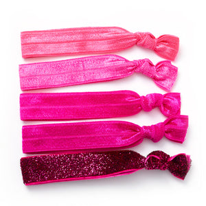 Silky Elastic knotted hair ties Plain jane