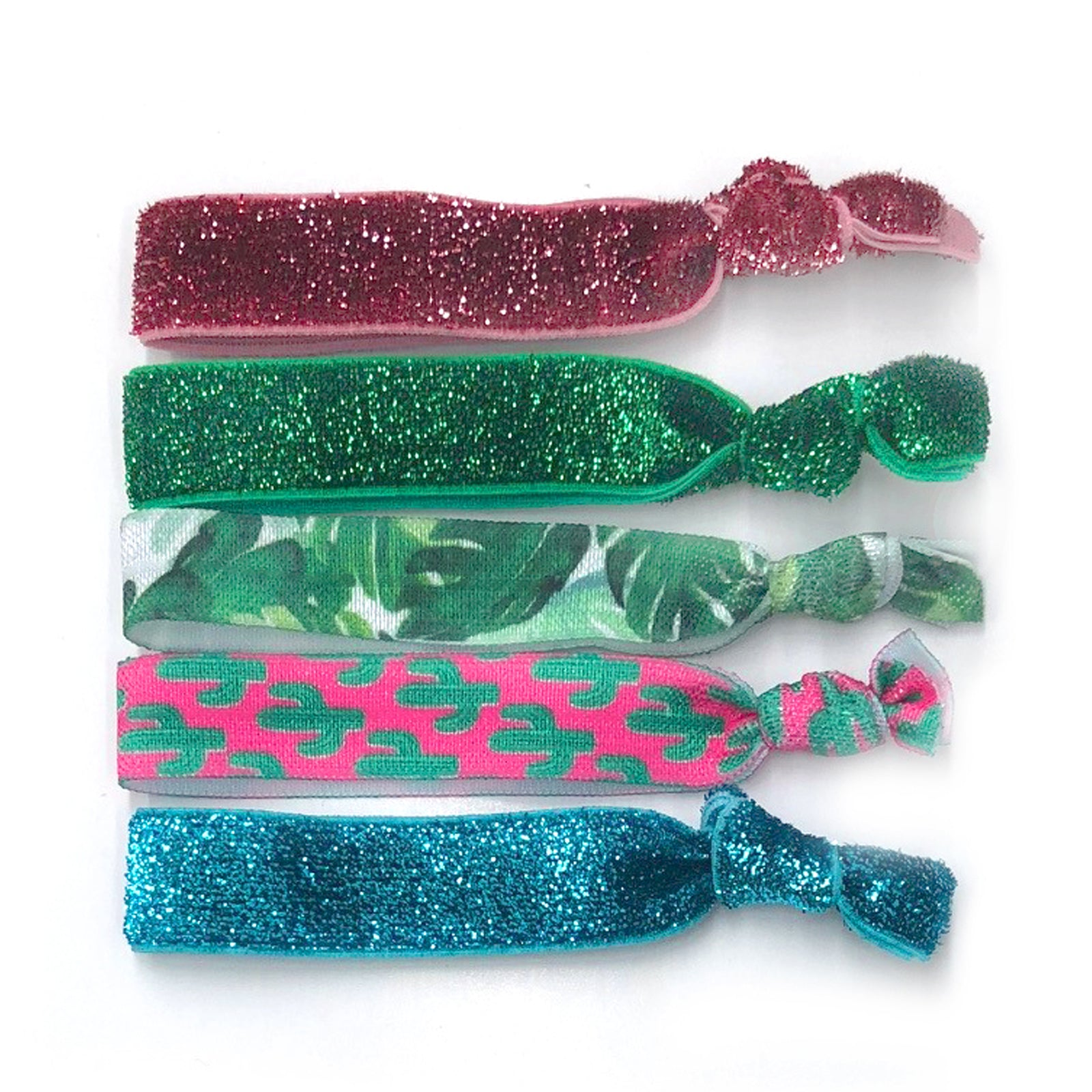 Silky Elastic knotted hair ties Sparkle