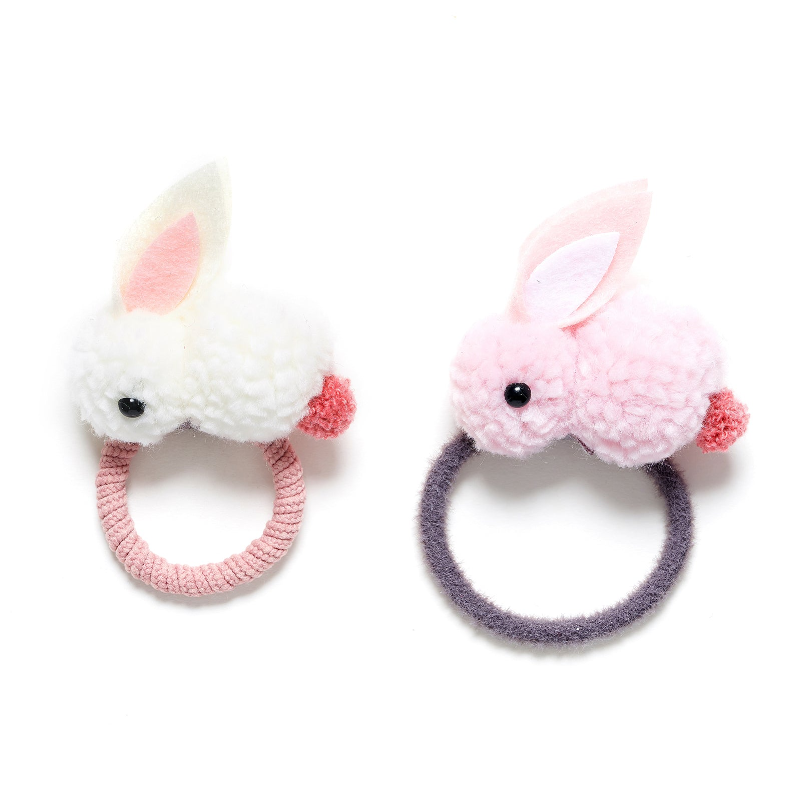 Pom pom rabbit hair tie