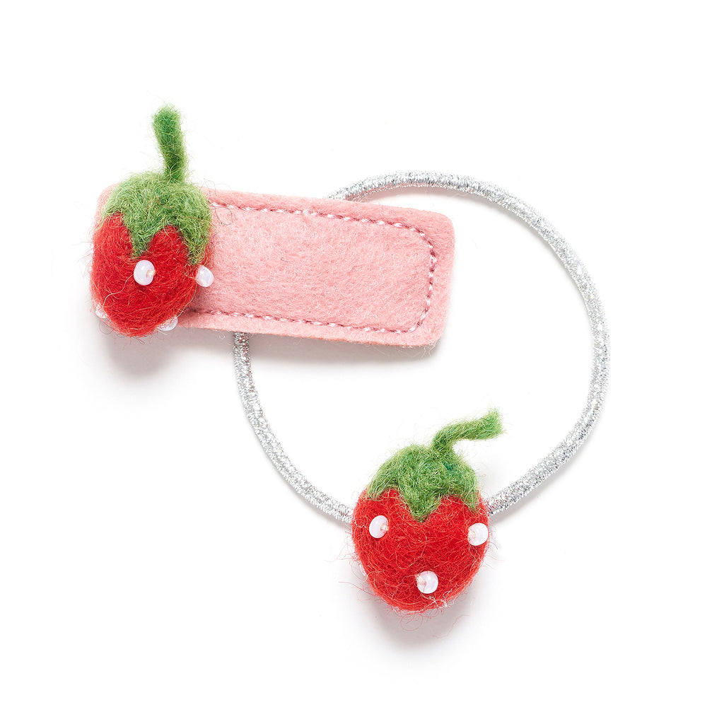 Strawberry hair tie and clip