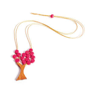 Beaded Apple Tree necklace