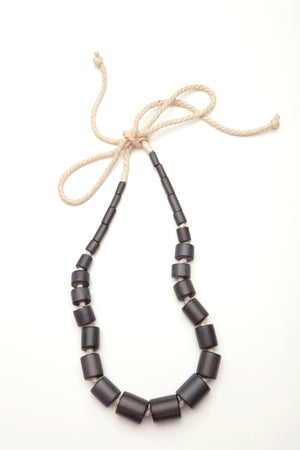 Tapered Macrame Bead necklace