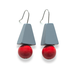 Accented drop earring