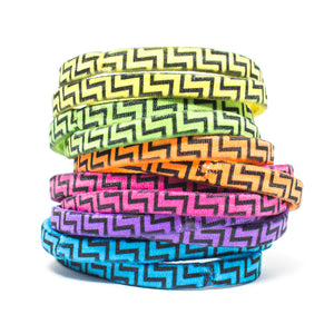 Coloured Zig Zags hair tie
