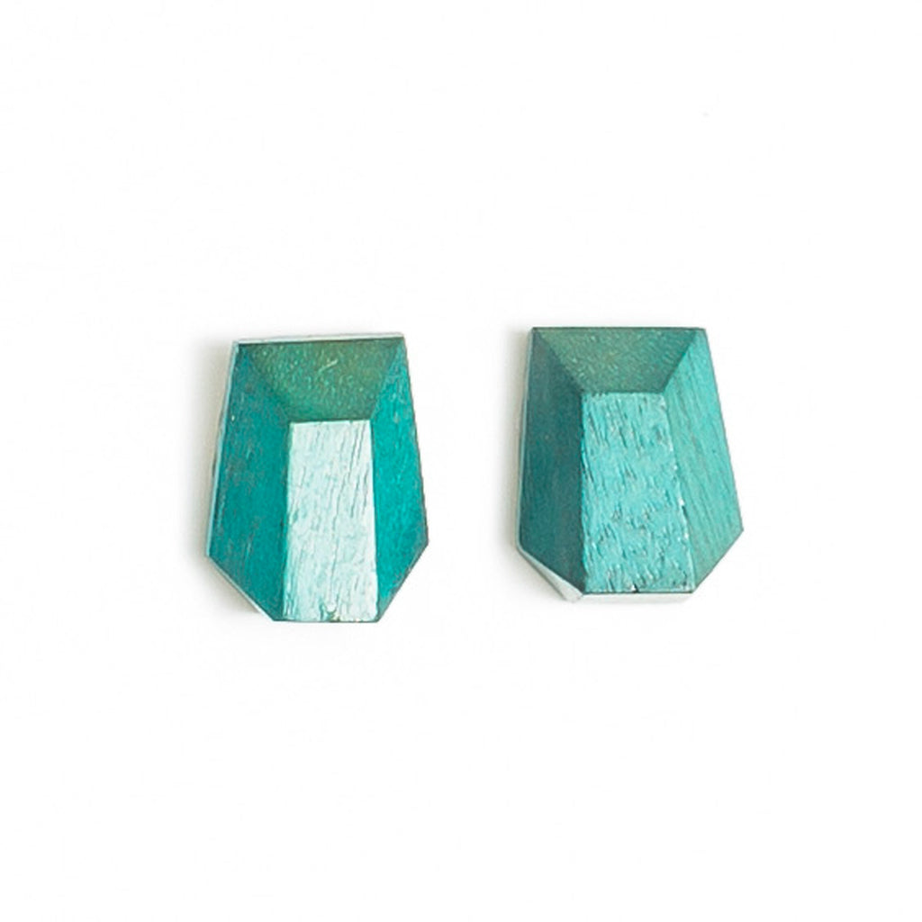 Faceted Rectangle stud
