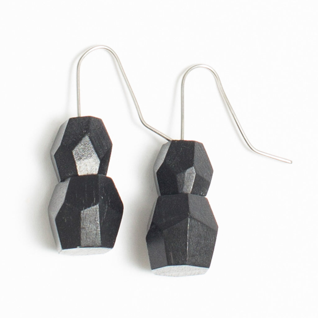 Faceted Double Drop earring