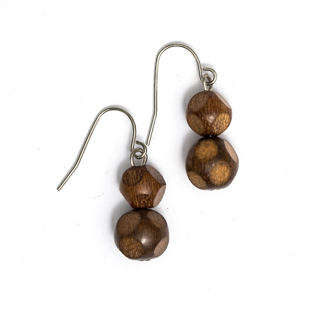 Faceted Bead drop earring